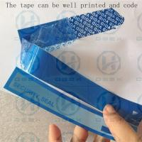 China PET Packing Security Seal Tape One Time Used Transportation Free Shipping wholesale
