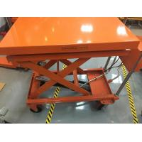 China Four Wheels Mobile Lift Table With Scale , Hydraulic Table Lift Jack Cart wholesale