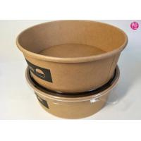 China Unbleached Rice Noodle Kraft Paper Salad Bowls 20oz 26oz 32oz Food Container wholesale