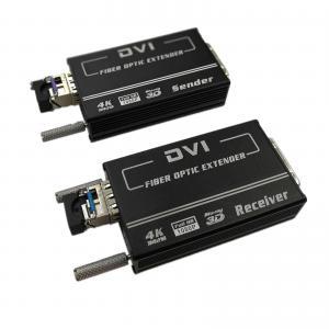 China Mini 4K x 2K Single Mode 1.4km EDID Manual DVI Video to Fiber Converter wholesale