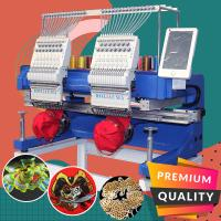 China Best china embroidery machine 400*500mm 15 needles high speed cap t-shirt flat computer embroidery machine 2 heads on sale