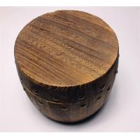 China Paulownia Brown Color Wooden Storage Barrels , Mini Wooden Barrels Tea / Coffee Storage With Lid wholesale
