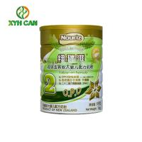 China Recyclable Milk Powder Round Tin Containers With Lids Tailor Made Solution wholesale