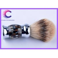 China Handmade Eclusive color handle silver tipped badger shaving brush 26 x 116mm wholesale