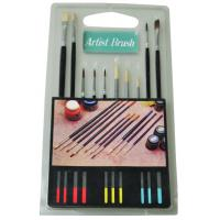 China Fine Artist Painting Brushes Set 15pcs Or 10pcs Wooden / Plastic Handle wholesale
