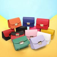 2017 new first layer genuine leather shoulder bag Messenger small square bag lady mini chain with lock bag