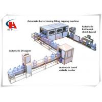 China Mineral Water Production Line Clamp Transferring Technology For 3 - 5 Gallon wholesale