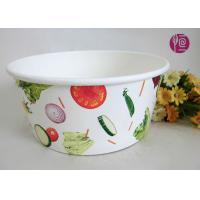 China 43oz Food Grade PE Coated Low Leakage Disposable Paper Bowls / Enamel Paper wholesale