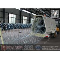 China HESLY Military Rapid Deployment Riot Razor Barrier Trailor System wholesale