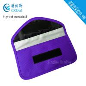 Quality Anti Radiation Purple RFID Travel Bags / Womens Rfid Wallet 19.5*9 Cm for sale