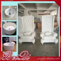 China Pedicure spa with high back throne chair comfortable luxury pedicure spa massage chair for nail wholesale