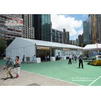 China Aluminum A Frame Heavy Duty Flame Retardant PVC Structure Outdoor Exhibition Tents with White PVC Sidewalls wholesale