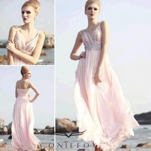China braces red carpet dresses,  backless summer red carpet dresses wholesale