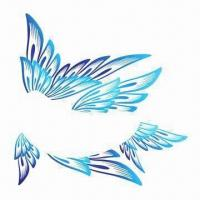 China Face/Eye's Tattoo Stickers, Butterfly Design, Safe and Non-toxic, Customized Designs are Accepted wholesale