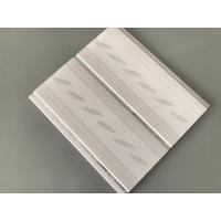 China 200*7mm Middle Groove Decorative Plastic Ceiling Panels With Two Silver Line wholesale