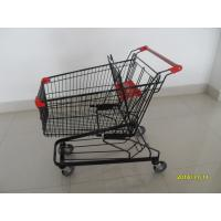 Wholesale 125L Supermarket Push Cart With Flat / Travelator Casters , 941x560x1001mm from china suppliers