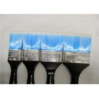 Quality Blue Nylon Flat Paint Brush With Black Wooden Handle , Painting Tools For Walls for sale