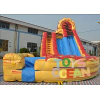 China Yellow Double Lane Inflatable Water Slide Funny For Adult Tarpaulin Amusement wholesale