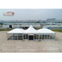 China Special Outside Party Tent , Aluminum Tent  With Modular Pyramid Roof Top For Exhibition wholesale