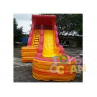 China Outdoor / Indoor PVC Volcano Inflatable Water Slide With Swimming Pool EN14960 wholesale