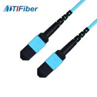 China OM3 Aqua 50/125μm Fiber optic patch cord SM MM SX DX fiber optical cable wholesale