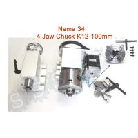 China Nema 34 ( 4:1 )  4 jaw Chuck K12-100mm CNC 4th Axis Kit CNC Dividing Head on sale