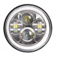 China 7 Inch LED Headlights Lights Bright White / Amber Turn Signal With Halo Ring wholesale