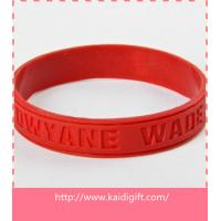Hot Sale! No Minimum Custom Debossed  Silicone Wristbands