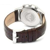 Quality Wholesale New Emporio Armani AR2433 Brown Leather Amber Crystal Classic Men's Watch for sale