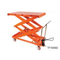 China Mobile Hydraulic Lift Table Cart , Adjustable Height Cart Scissor Lift wholesale