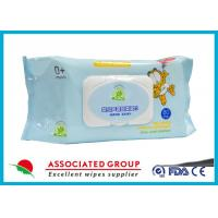 China Natural Care Baby Wet Wipes For Newborns , Spunlace Nonwoven Wet Tissue For Baby wholesale