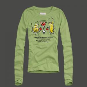 China a&f Women's Long Sleeve t-Shirt Abercrombie&fitch Women Tshirts wholesale