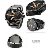 China Wholesale NEW DIESEL DZ7312 MR. BIG DADDY 57MM BLACK ROSE GOLD STAINLESS STEEL MENS WATCH wholesale