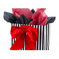 China 3.7 Ounces Large Gift Packaging Bag with Tissue Paper ( Red Bow , 13 by 10.4 by 5.7 Inches ) wholesale