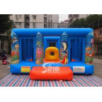 China Durable Blue Kids Inflatable Jumper Flame Retardant For Indoor Use wholesale