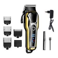 China Golden Color Electric Hair Trimmer , Cordless Barber Clippers For Pets / Human wholesale