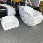 2018 Fiber Glass Shampoo Chair Hot Sale Used Silver Hair Washing Chair