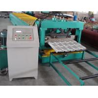 China Delat PLC Control Steel Metal Roof Panel Roll Forming Machine Roof Panel Roll Former With 5 Ton Decoiler wholesale
