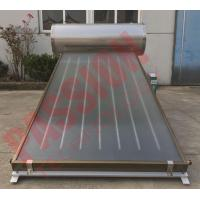 China Integrated Pressurized Flat Plate Collector Rooftop Hot Water Heater Full Copper Aluminum Sheet on sale