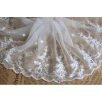 China White Floral Venise Nylon Mesh White Bridal Lace Fabric For Dressmaking wholesale