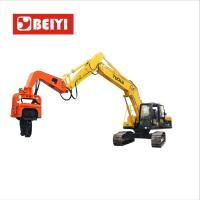 China BeiYI Excavator Mounted Mini Integrated Vibratory Pile Hammer Construction Equipment Pile Driver wholesale