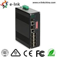 China Manageable Industrial Ethernet Media Converter 10 / 100 / 1000M SFP Combo wholesale