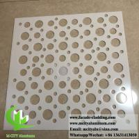 China Perforated Aluminum Sheet for building curtain wall cladding facade fence wholesale