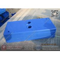 China Blue Color Injection Molding Plastic Temporary Fencing Feet Shell | China Temp Fencing Block Factory wholesale