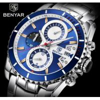 China BENYAR Men Chronograph Date Sports Stainless Steel Quartz Watch 	BY-5127M wholesale