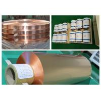 China Color Uniformity Copper Flashing Rolls, ISO RA Annealed Soft Copper Foil wholesale
