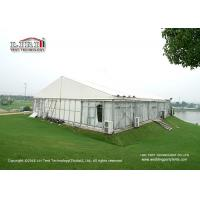 China Aluminum Frame Glass Walls Luxury Wedding Tents Wooden Flooring System wholesale