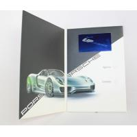 China Promotional Video In Print Brochure with LCD sound modules , rechargeable battery wholesale