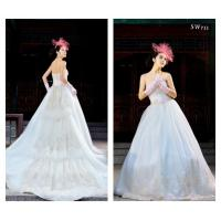 China Luxurious extra long train Customized Wedding Dresses sweetheart neckline for Summer wholesale