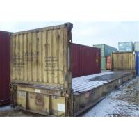 China Intermodal Transport 20ft Flat Rack Container Dimensions 5.90m* 2.35m wholesale